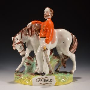 ANTIQUE STAFFORDSHIRE FIGURE OF GARIBALDI