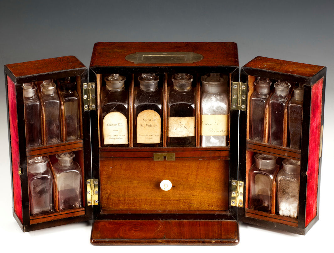 ANTIQUE-MEDICINE-CABINET-apothecary-chest-Allen-Hanburys-3792_1_3792 - 19TH CENTURY MEDICINE CHEST - Richard Gardner Antiques