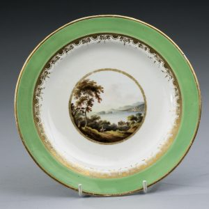 ANTIQUE DERBY PORCELAIN PLATE PAINTED BY GEORGE ROBERTSON
