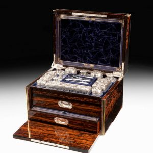 ANTIQUE COROMANDEL LADIES DRESSING CASE
