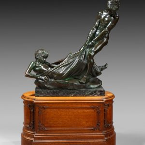ERICA LEE BRONZE FIGURE TWO YOUNG BOYS NAKED