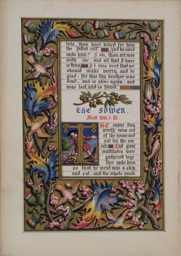 ANTIQUE-BOOK-Henry-Noel-Humphreys-parable-of-our-lord-antique-Longman-Co-DSC_0037-_5938