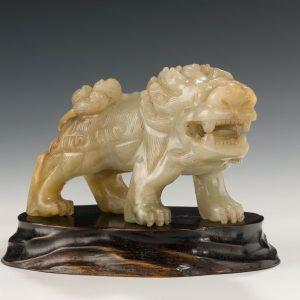 ANTIQUE JADE BUDDHIST LION