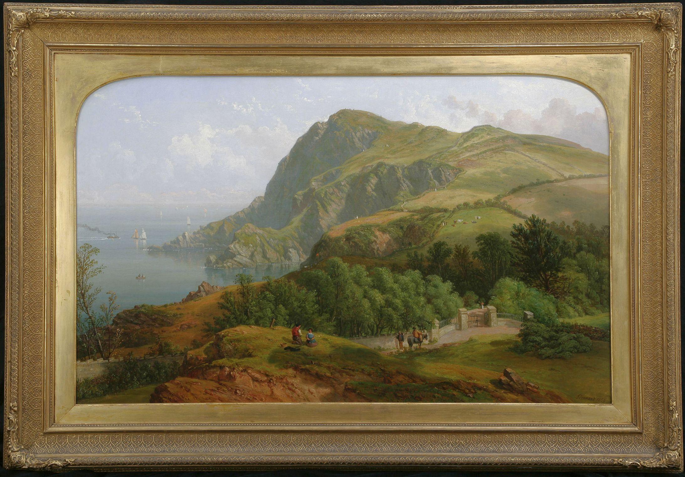 John F Tennant Oil Painting Ilfracombe Devon
