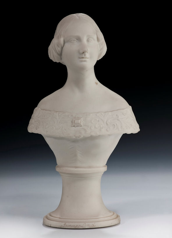 ANTIQUE PARIAN BUST JENNY LIND THE SWEDISH NIGHTINGALE
