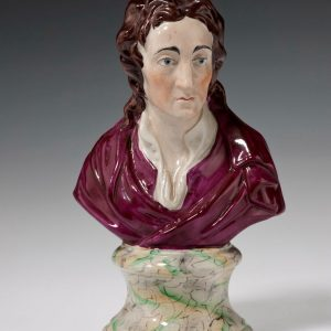 ANTIQUE STAFFORDSHIRE BUST OF MATHEW PRIOR
