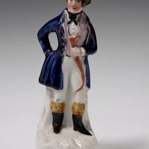ANTIQUE STAFFORDSHIRE FIGURE OF MARIA FOOTE AS ARINETTE