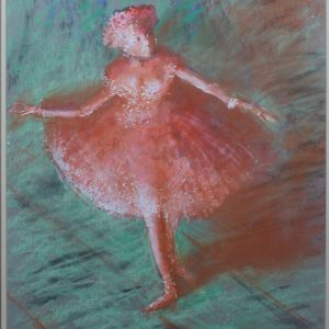 TOM KEATING PASTEL BALLET DANCER EDGAR DEGAS