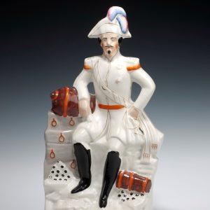ANTIQUE STAFFORDSHIRE FIGURE OF EMPEROR NAPOLEON