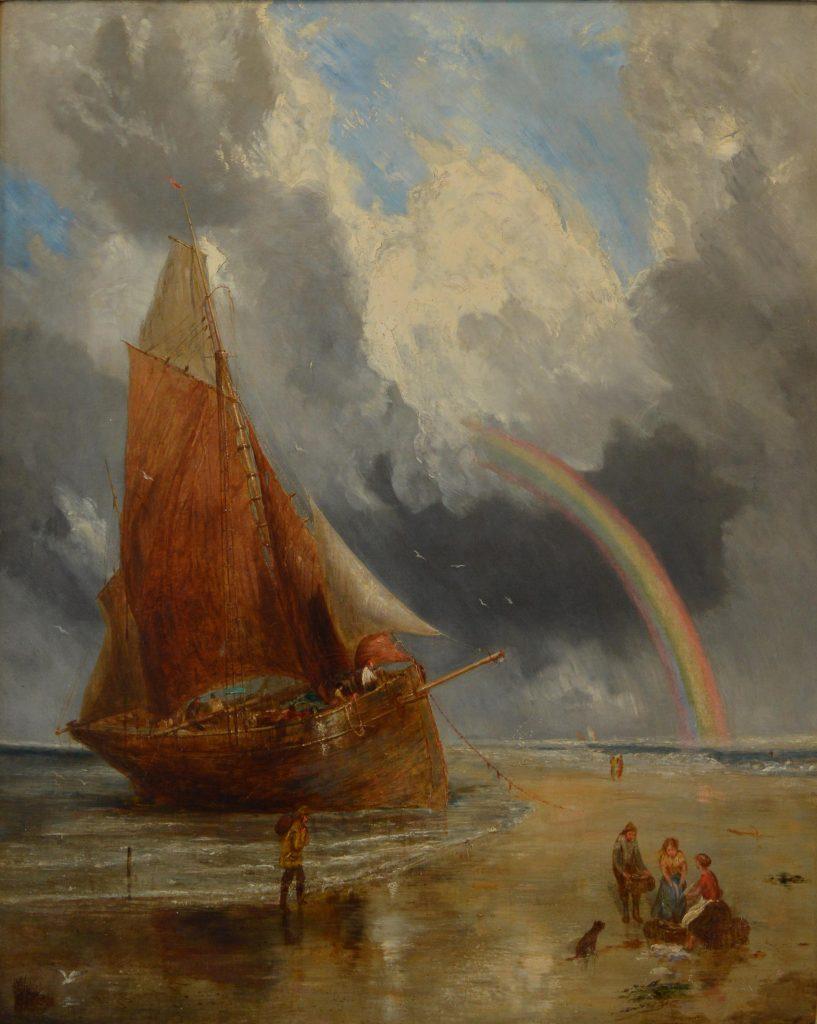 William Joseph Julius Caesar Bond Oil Painting Marine