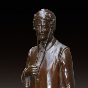BRONZE FIGURE OF DANTE