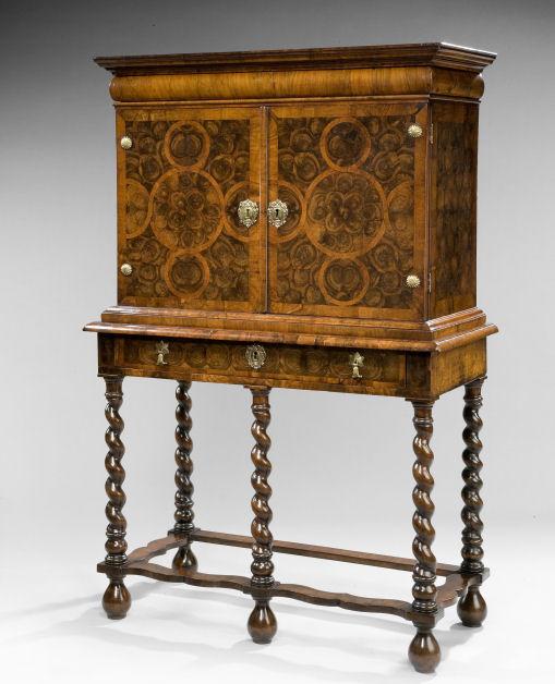 olivewood oyster cabinet on stand richard gardner antiques