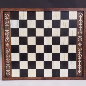 ANTIQUE IVORY INLAID GAMES BOARD