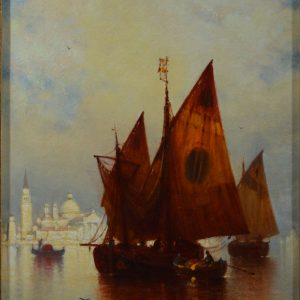 ANDREW FISHER BUNNER OIL PAINTING VENICE MARINE