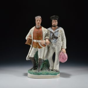 ANTIQUE STAFFORDSHIRE FIGURE OF A RIVER WAR GROUP