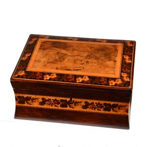 ANTIQUE EARLY 19TH CENTURY TUNBRIDGE WARE BOX