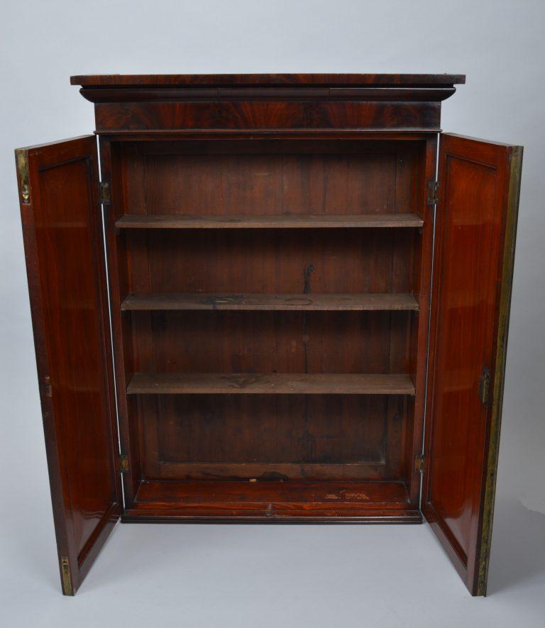 antique-wall-hanging-cupboard-mahogany-shallow-narrow-DSC_2151-_6086