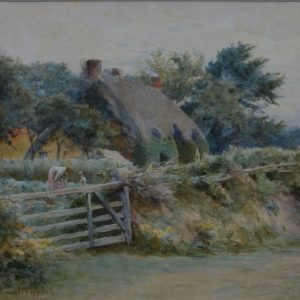 WALTER FREDERICK ROOFE TYNDALE WATERCOLOUR COUNTRY COTTAGE SCENE