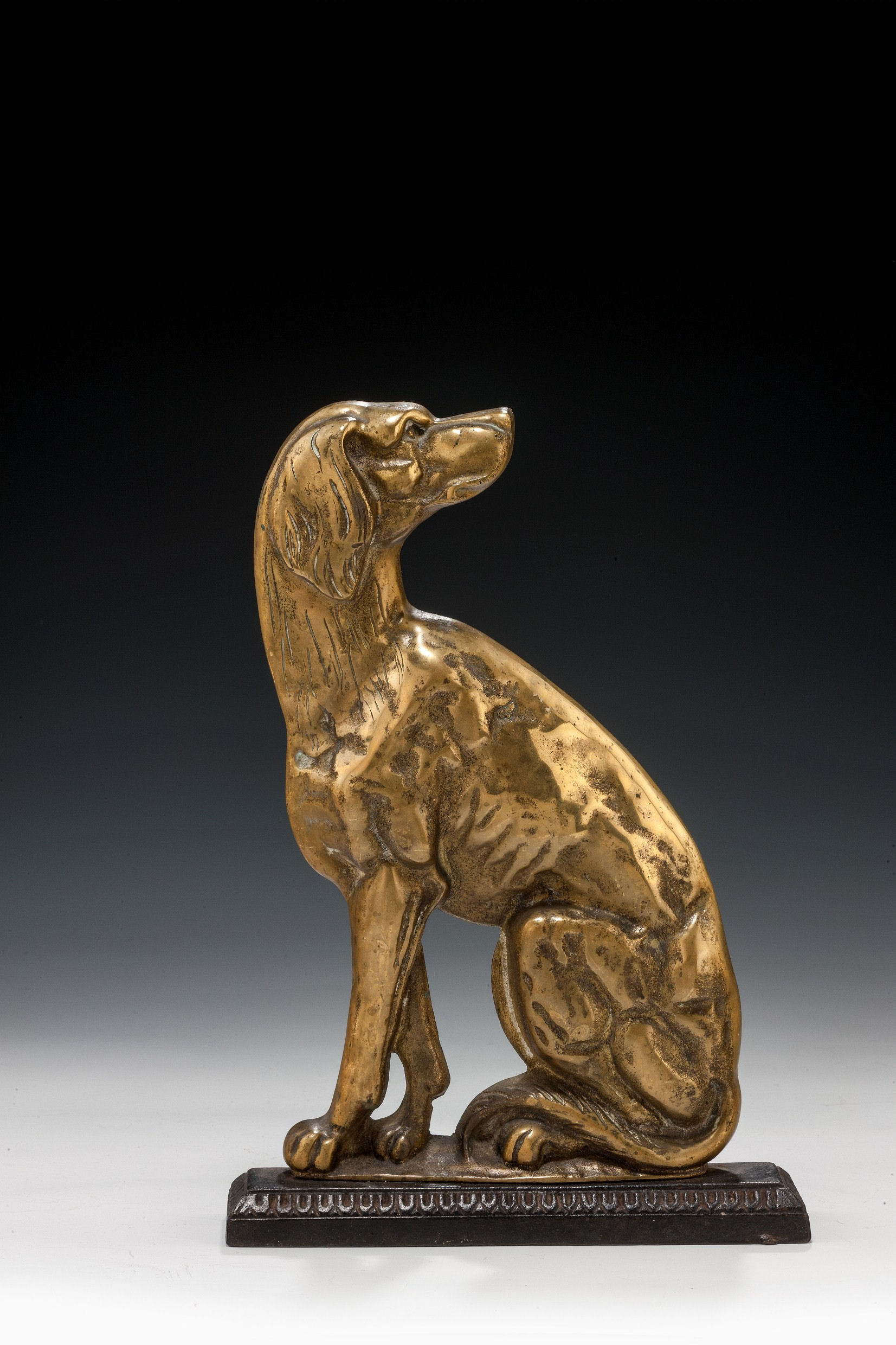Antique Brass Door Stop Of A Seated Dog Richard Gardner Antiques