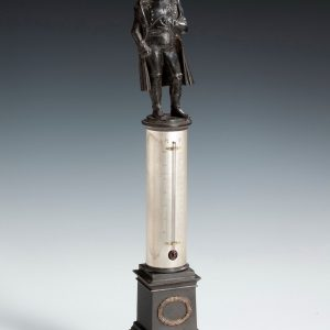 ANTIQUE BRONZE NAPOLEON THERMOMETER