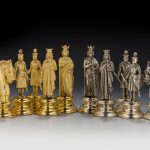 ITALIAN SILVER AND SILVER GILT CHESS SET