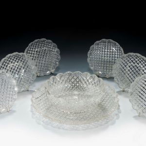 ANTIQUE CUT GLASS DESERT SERVICE