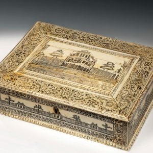 ANTIQUE ANGLO INDIAN VIZAGAPATAM IVORY WORK BOX