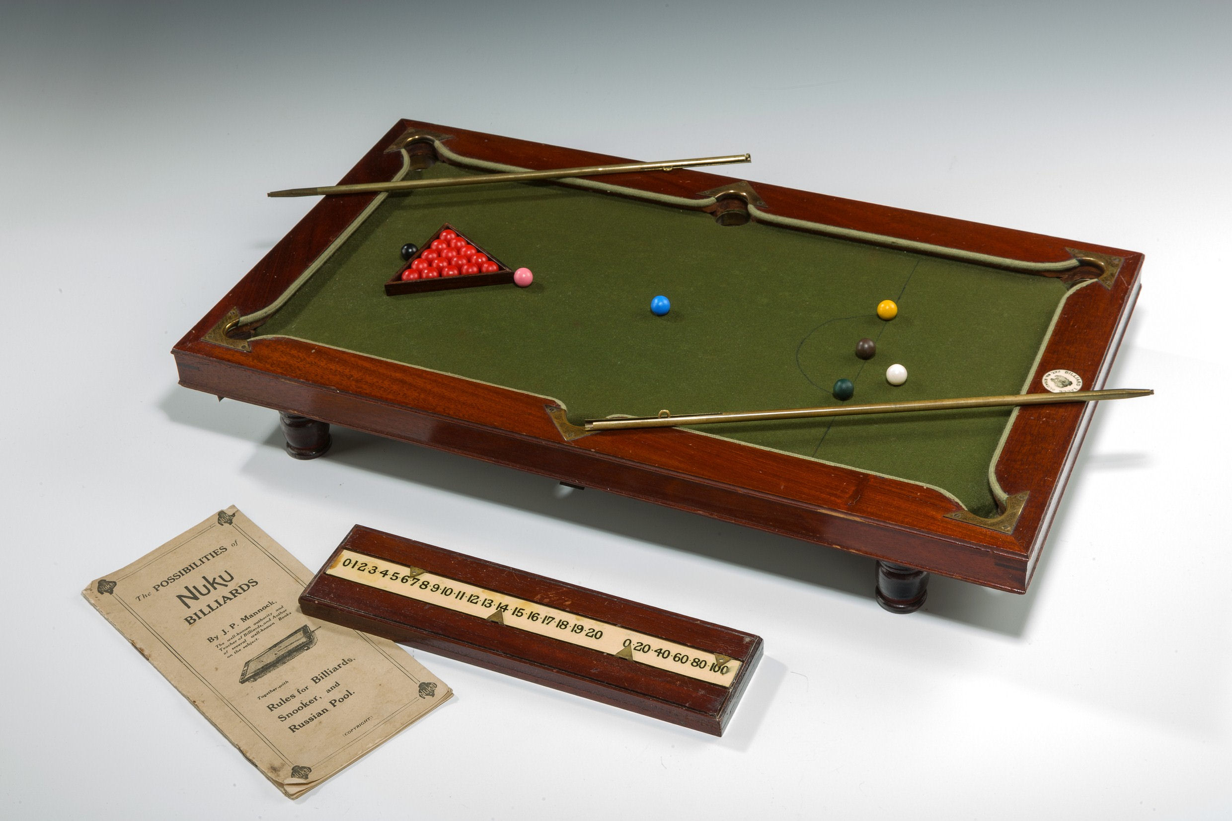 ANTIQUE MINIATURE NUKU BILLIARDS TABLE - Sports authority pool table