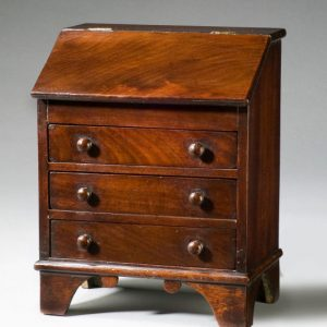 ANTIQUE MINIATURE MAHOGANY BUREAU