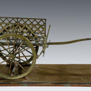 ANTIQUE BRONZE MODEL OF ARMY TRANSPORT SARA SARA CART