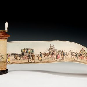 ANTIQUE PANORAMA GOING TO EPSOM RACES BY HENRY ALKEN