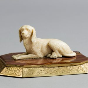 REGENCY IVORY SPANIEL PAPER WEIGHT