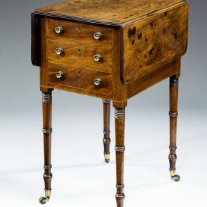 ANTIQUE REGENCY MAHOGANY PEMBROKE WORK TABLE