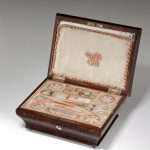 ANTIQUE PALAIS ROYAL MULBERRY SEWING BOX