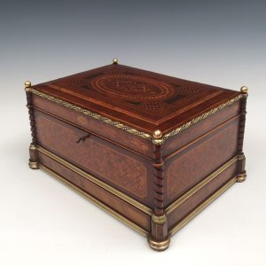 SUPERB ANTIQUE FRENCH SEWING BOX
