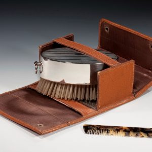 ANTIQUE SILVER BRUSH AND COMB SET PLAYING HAPPY BIRTHDAY