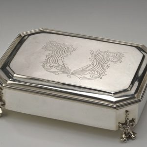 ANTIQUE SILVER CASKET BY CARRINGTON AND CO
