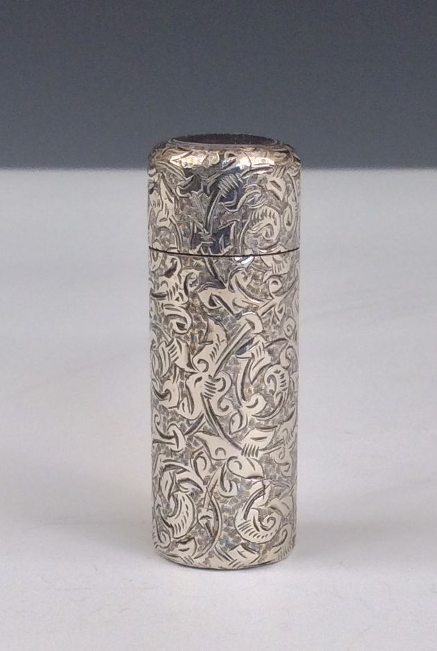 ANTIQUE SILVER SCENT BOTTLE HOLDER