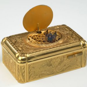 ANTIQUE GILT BRONZE SINGING BIRD BOX CHEVOB AND CO