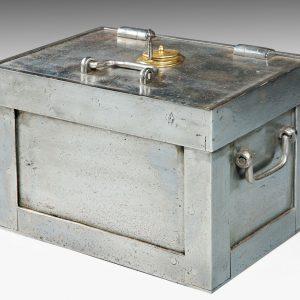 ANTIQUE STEEL STRONGBOX