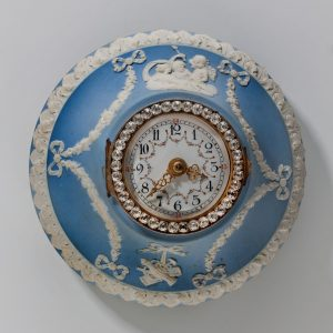 ANTIQUE WEDGWOOD JASPERWARE WALL CLOCK