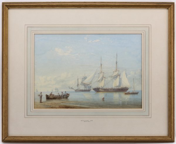William-Joy-watercolour-HMS-Cleo-marine-antique-455K5259