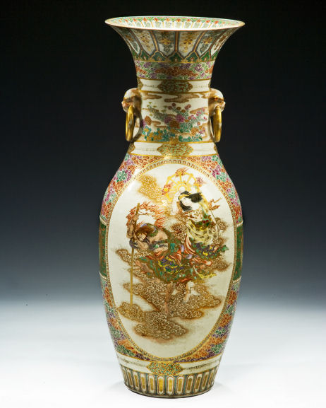 Large Japanese Satsuma Floor Vase By Gyokuzan Richard Gardner Antiques