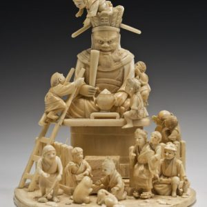 JAPANESE IVORY OKIMONO CHILDREN
