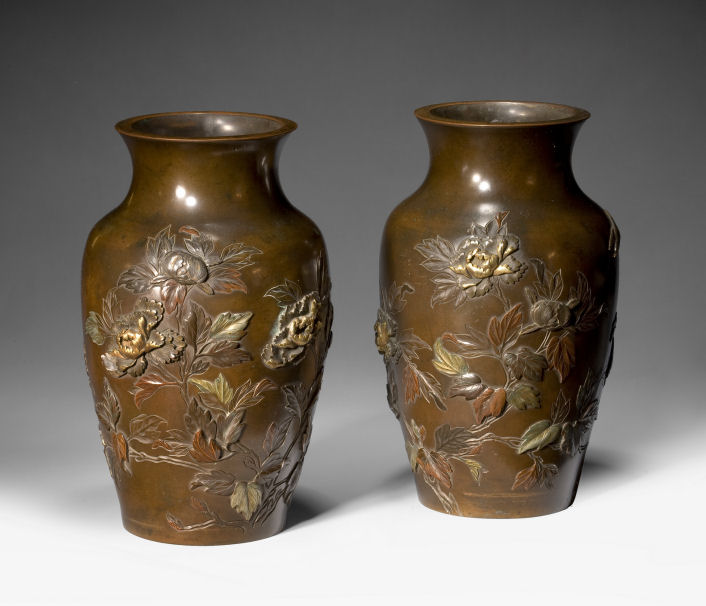 Fine Pair Of Japanese Bronze Vases Richard Gardner Antiques