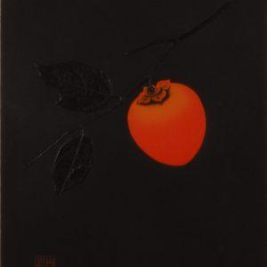 JAPANESE WOODBLOCK PRINT - HAKU MAKI - PERSIMMON