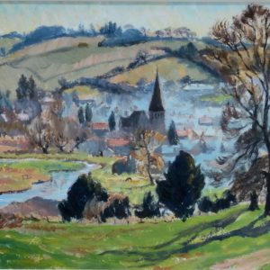 MARGARET GRAEME NIVEN-OIL PAINTING-STOCKBRIDGE HAMPSHIRE