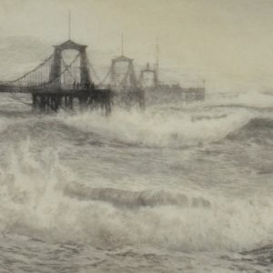 WILLIAM LIONEL WYLLIE-ETCHING-BRIGHTON CHAIN PIER
