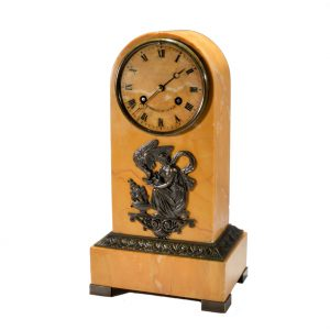SIENNA MARBLE MANTEL CLOCK BY NICHOLAS RIEUSSEC