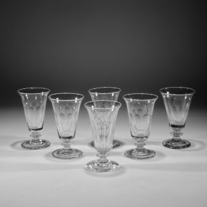 ANTIQUE SET OF SIX JELLY GLASSES